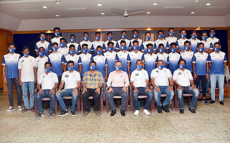 The Dempo Sports Club - Senior Team with Club President, Mr. Shrinivas Dempo